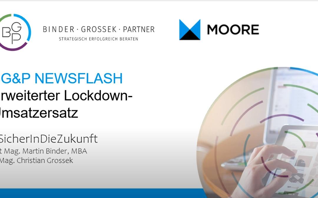 BG&P Newsflash — Erweiterter Lockdown Umsatzersatz
